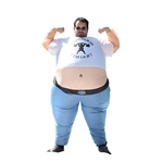 Halloween Inflatable Party Costume - Pot Belly Personal Trainer - Adult