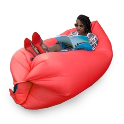 Inflatable Lounger/Pool Float - 72 x 30 Feet - Red - ALEKO