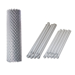 ALEKO® KITCLF6X50 Galvanized Steel Chain Link Fence 6X50 Feet Complete Kit