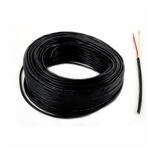 Stranded Black Wire - 2-Conductor - 18-Gauge - 20 Feet