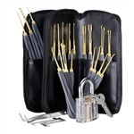GOSO 24-Piece Lock Pick Set and Transparent Practice Padlock Bundle - ALEKO