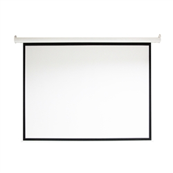 Motorized Drop Down Projector Screen 16:9 with Remote Control - 100 Inches - ALEKO