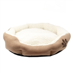 ALEKO® PB02M Medium Soft Plush Beige Pet Cushion Crate Bed With Removable Insert Pillow