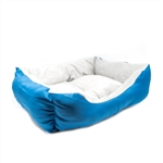 ALEKO® PB06BL 20 X 16 X 6 Inch (51 X 41 X 15 cm) Soft Plush Pet Cushion Crate Bed, Blue