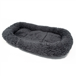 Soft Plush Pet Bed Cushion Mat - 21 x 4 Inches - Charcoal Gray - ALEKO