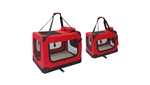ALEKO   PBCRED Heavy Duty Collapsible Pet Carrier Bag, Red (Chose your size)