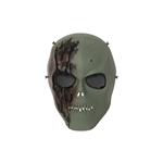 ALEKO  PBM221GR Skull Skeleton Airsoft Mask With Wire Mesh Goggles Tactical Paintball Airsoft Protective Safety Mask, Green