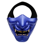 ALEKO  Airsoft Neoprene Protective Half Face Mask, Blue