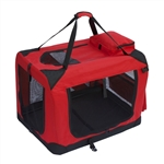 ALEKO Heavy Duty Large Collapsible 27.5 x 20 x 20 inches (69.9 X 50.8 X 50.8 cm) Pet Traveler Carrier (Choose your color)