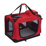 ALEKO Heavy Duty Large Collapsible 27.5 x 20 x 20 inches (69.9 X 50.8 X 50.8 cm) Pet Traveler Carrier with Mat (Choose your color)