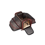 Heavy Duty Expandable Pet Carrier - Large - Brown