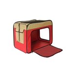 Heavy Duty Portable Pop Up Pet Crate Shelter Carrier - Small Size - Red - ALEKO