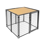 ALEKO 5 X 5 Feet Dog Kennel Shade Cover with Aluminum Grommets, Beige