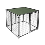 ALEKO 5 X 5 Feet Dog Kennel Shade Cover with Aluminum Grommets, Dark Green