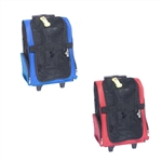 ALEKO  PRB01 Pet Travel Rolling Luggage Carrier Bag Backpack (Choose your color)