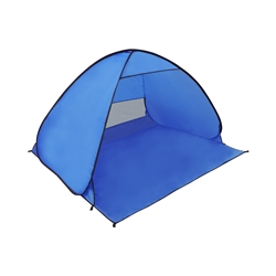PTB17 Large Outdoor Portable Instant Pop Up Beach Sun Shelter Tent, Blue