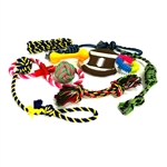 Dog Rope Toy 10-Pack - Multicolor - ALEKO