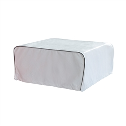 Weather-Resistant RV Air Conditioner Cover - 39 x 26 Inches - White