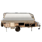 Retractable RV/Patio Awning - 12 x 8 Feet - Grey - ALEKO
