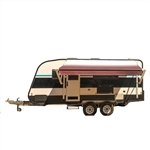 Motorized Retractable RV/Patio Awning - 8 x 8 Feet - Burgundy Fade - ALEKO
