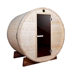 Outdoor and Indoor White Pine Barrel Sauna - 5 Person - 4.5 kW ETL Certified Heater - ALEKO
