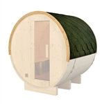 ALEKO SB6SHINGLERF Green Shingle Bitumen Sauna Roof Set for 83x72x75 Inches Barrel Sauna