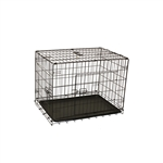 Dividable Folding Dog Cage With ABS Tray - 3-Door - 24 Inches - ALEKO