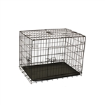 Dividable Folding Dog Cage With ABS Tray - 3-Door - 30 Inches - ALEKO