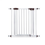 ALEKO SG02BR Easy Close Metal Walk-Through Safety Gate Door, White and Brown