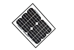 ALEKO® Solar Panel Monocrystalline 10W for any DC 12V Application (gate opener, portable charging system, etc.)