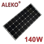 ALEKO  Solar Panel Monocrystalline 140W for any DC 12V Application (gate opener, portable charging system, etc.)