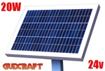 ALEKO® 20W Solar Panel for any 24V DC application (gate opener, portable charging system, etc.)
