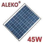 ALEKO® Solar Panel Polycrystalline 45W for any DC 12V Application (gate opener, portable charging system, etc.)