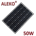 ALEKO Solar Panel Polycrystalline 50W for any DC 12V Application (gate opener, portable charging system, etc.)