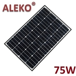 ALEKO Solar Panel Monocrystalline 75W for any DC 12V Application (gate opener, portable charging system, etc.)