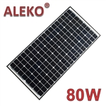 ALEKO® Solar Panel Monocrystalline 80W for any DC 12V Application (gate opener, portable charging system, etc.)