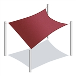 Waterproof Sun Shade Sail - Rectangle - 13 x 10 Ft - Ivory - ALEKO