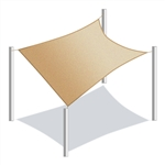 ALEKO® Rectangle Shade Sail Beige Color