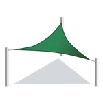 ALEKO® Triangular Shade Sail GREEN Color