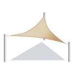 ALEKO® Triangular Shade Sail Beige Color