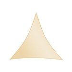 ALEKO® Triangular 10' X 10' X 10' (3 X 3 X 3 m) Waterproof Sun Shade Sail Canopy Sun Shelter, Ivory Color