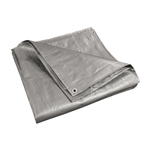 ALEKO® TR12X18SL 12X18 Feet Heavy Duty Tarp Multi-Purpose All Weather Polyethylene Tarpaulin, Silver