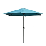 9 Ft Outdoor Umbrella, Turquoise Blue Color
