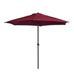 9 Ft Outdoor Umbrella, Burgundy Color