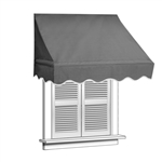 ALEKO Window Awning Gray Color
