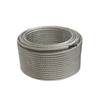 Aircraft Galvanized Steel Cable Wire Rope - 1/4-Inch - 7 x 19 - 250 Feet