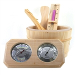 Deluxe Pine Wood Sauna Accessory Kit - 4 Piece - ALEKO